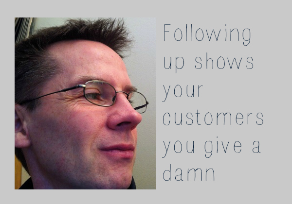 following up is a key function of selling